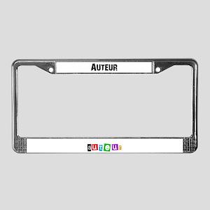 Auteur1 License Plate Frame