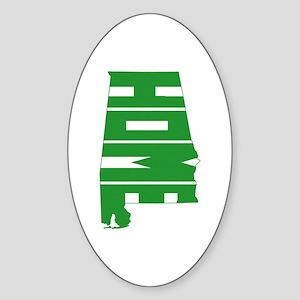 Alabama Home Sticker (Oval)