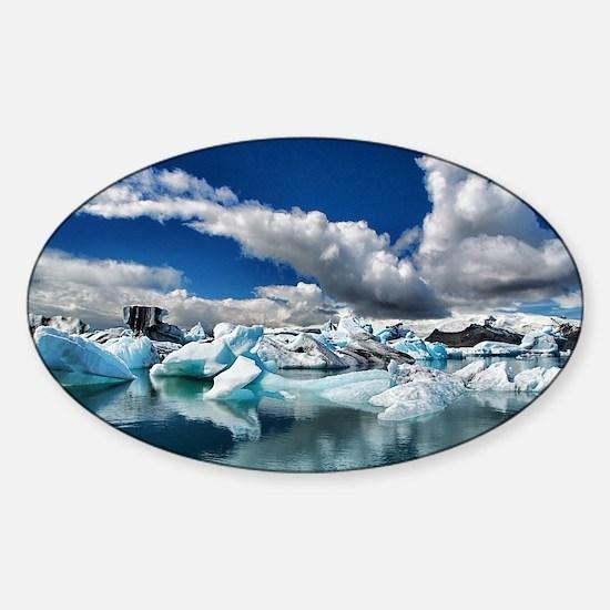Blue Ice Sticker (Oval)