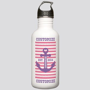 Customized Nautical Anchor and Rope Water Bottle