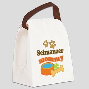 Schnauzer mom Canvas Lunch Bag
