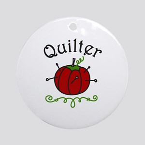 Quilter Ornament (Round)