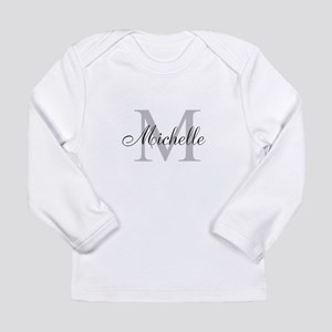 Personalized Monogram Name Long Sleeve T-Shirt