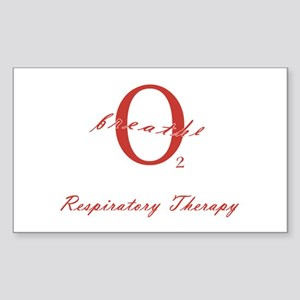 Respiratory Therapy - Athleti Sticker (Rectangular