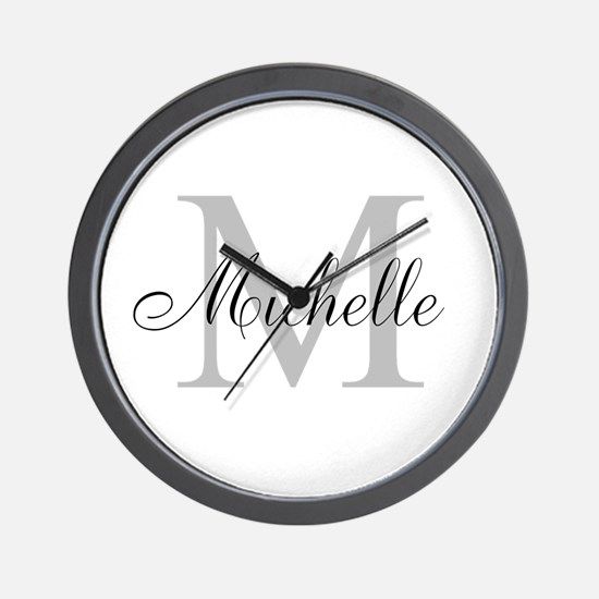Personalized Monogram Name Wall Clock
