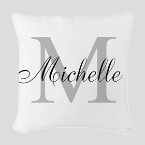 Personalized Monogram Name Woven Throw Pillow