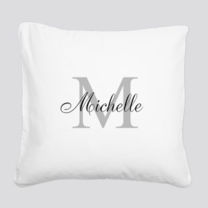Personalized Monogram Name Square Canvas Pillow