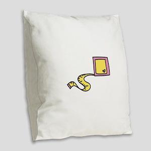 Measuring Tape Burlap Throw Pillow
