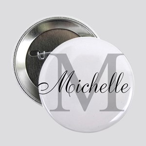 "Personalized Monogram Name 2.25"" Button"