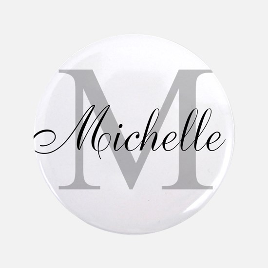 """Personalized Monogram Name 3.5"""" Button (100 pack)"""