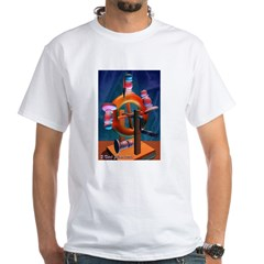 Tarot The Wheel of Fortune White T-Shirt