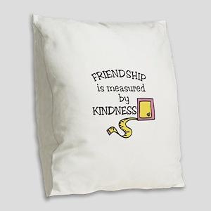 Friendship Burlap Throw Pillow