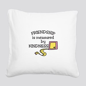 Friendship Square Canvas Pillow