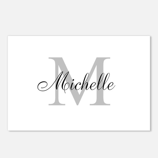 Personalized Monogram Name Postcards (Package of 8