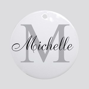 Personalized Monogram Name Ornament (Round)