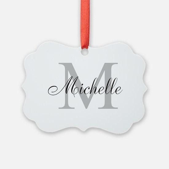Personalized Monogram Name Ornament