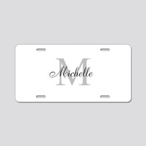 Personalized Monogram Name Aluminum License Plate