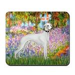 Whippet in Monet's Garden Mousepad