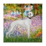 Whippet in Monet's Garden Tile Coaster
