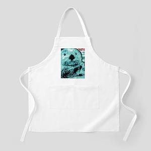Bright aqua mint Sea Otter Apron