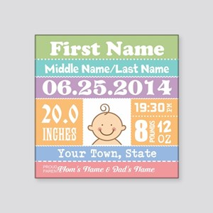 Personalize Baby Birth Stats Sticker