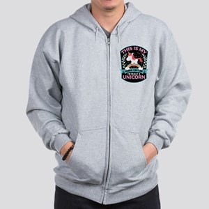 Rounded Square Zip Hoodie