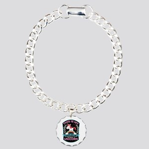 Rounded Square Charm Bracelet, One Charm