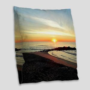 SERENE SUNRISE Burlap Throw Pillow
