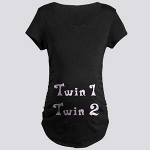 Twin Number Maternity Dark T-Shirt