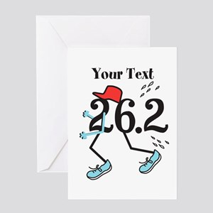 Customize Funny 26.2 Greeting Cards