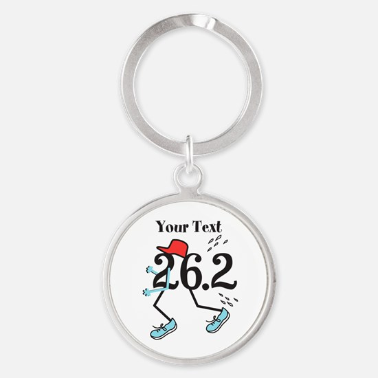 Personalized Runner 26.2 Round Keychain