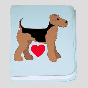 Airedale Terrier Love baby blanket