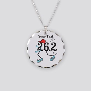 26.2 Optional Text Necklace Circle Charm