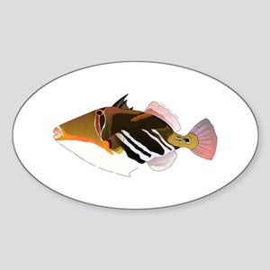 White-Banded Lagoon Triggerfish Sticker