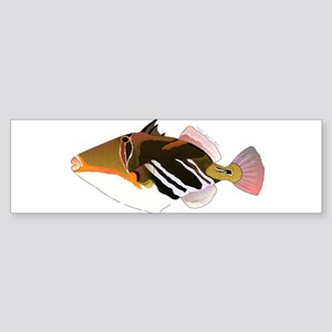 White-Banded Lagoon Triggerfish Bumper Sticker