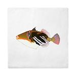 White-Banded Lagoon Triggerfish Queen Duvet