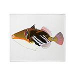 White-Banded Lagoon Triggerfish Throw Blanket