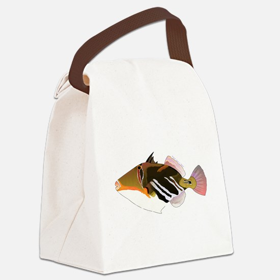 White-Banded LagoonTriggerfish C Canvas Lunch Bag