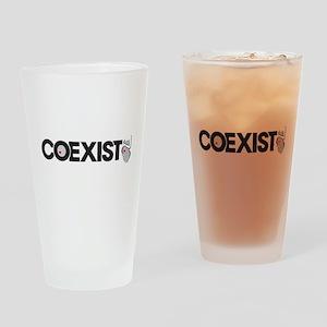 COEXIST (Pro Life) Drinking Glass