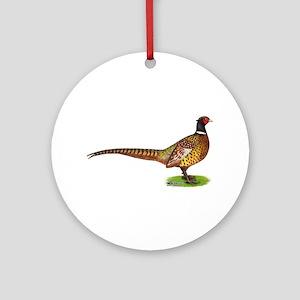 Proud Ringneck Pheasant Ornament (round)