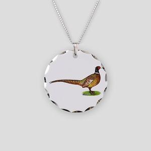 Proud Ringneck Pheasant Necklace Circle Charm
