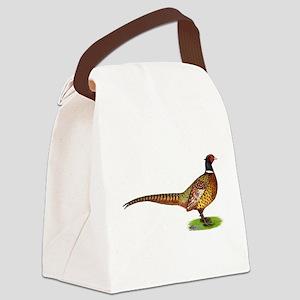 Proud Ringneck Pheasant Canvas Lunch Bag