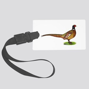 Proud Ringneck Pheasant Large Luggage Tag