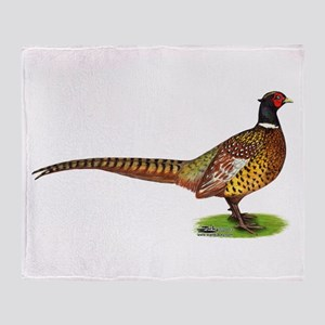 Proud Ringneck Pheasant Throw Blanket