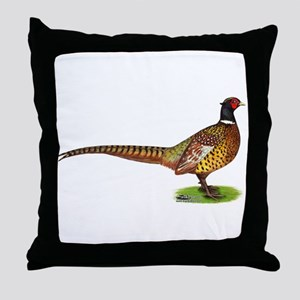 Proud Ringneck Pheasant Throw Pillow