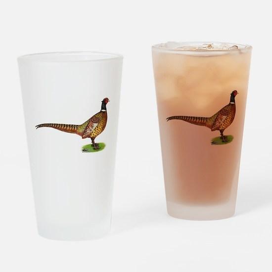 Proud Ringneck Pheasant Drinking Glass