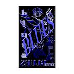 Blues on Blue Dark Rectangle Sticker