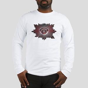 Masonic Design on left of a Long Sleeve T-Shirt