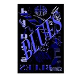 Blues on Blue Postcards (Package of 8)