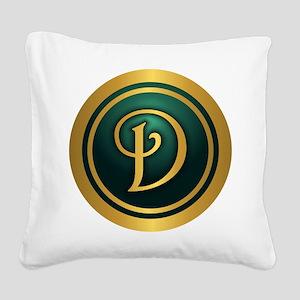 Irish Luck D Square Canvas Pillow